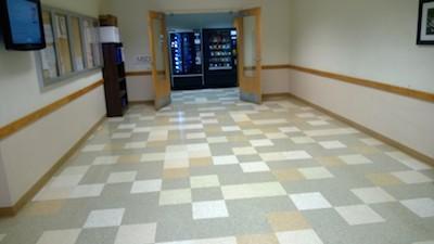 Before and After Floor Polishing