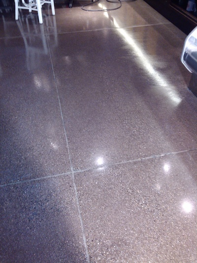 Polished Concrete, Before and After